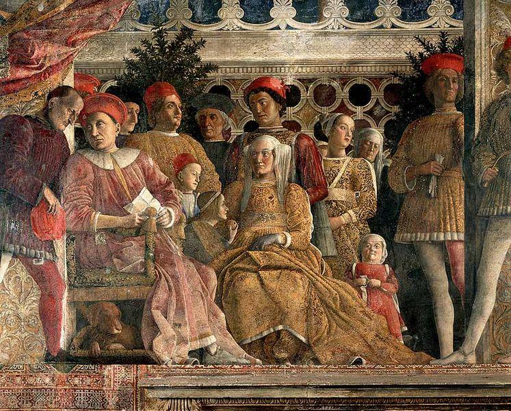 Andrea mantegna for Mantova palazzo ducale camera degli sposi