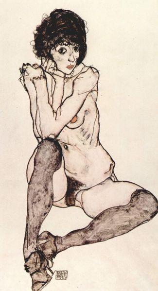[Art] Peintures & autres oeuvres picturales Schiele-sitzender-akt